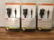 New listing 3 Lot Staples Vga Video with 3.5 mm Audio Cable 10 Feet - 21026 (2)