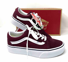 VANS Old Skool Platform Suede Port Royal White Women's Sneakers VN0A3B3U5U7