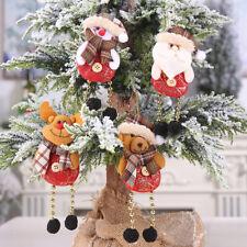 Papá Noel Alce Muñeca Colgante Navideña Ornamento Arbol de Navidad Decoración *