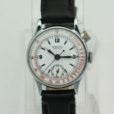 Vintage Stainless Steel Marconi Special by Rolex 1 Button Chronograph Wristwatch