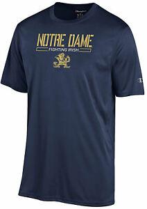 Notre Dame Fighting Irish Men's Blue Athletic Polyester Short Sleeve T Shirt