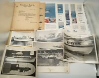 1963 Letter from Palmer Johnson Boats to Pearson Yachts Sales Ads and Photos