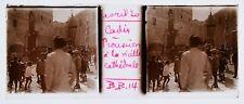 ESPAGNE 1920 CADIX  PROCESSION RARE 1 PLAQUE STEREOSCOPIQUE 45X107