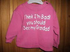 Edward Sinclair Girls Pink Logo Sweatshirt Age 6-12 Months