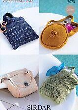Sirdar crochet double tricot motif #7073 sélection de sacs