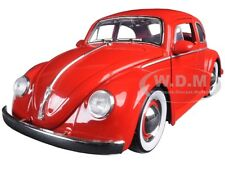 1959 VOLKSWAGEN BEETLE RED WITH BABY MOON WHEELS 1/24 DIECAST CAR BY JADA 97422