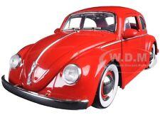 1959 VOLKSWAGEN BEETLE RED WITH BABY MOON WHEELS 1/24 DIECAST CAR BY JADA 97422