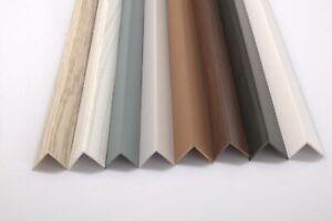 2m Winkelleiste PVC Winkelprofile Leisten stoßfest Kunststoffwinkelprofil Ecken
