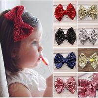 Baby Girl Kids Infant Sequin Bowknot Bow Hair Clip Hair Bow Clips Hair Pins Hot