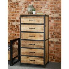 Saturn 100% Reclaimed Wood Furniture Tall 6 Drawer Chest