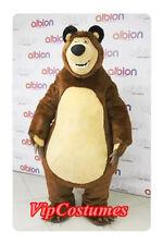 High Quality Masha Bear Ursa Grizzly Mascot Costume Cartoon Character Free Ship