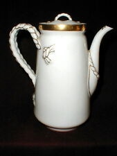 Haviland Limoges France Nautical Sailor's Knot Anchor/Rope Coffee Pot  1880s EXC