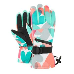 Unisex Fleece Lining Professional Ski Gloves Touch Screen Waterproof Hot Mittens