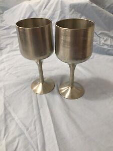 Vintage Pewter goblets