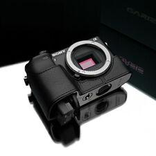 New GARIZ Genuine Leather Sony A6000 Half Case Black For Sony Alpha ILCE-6000
