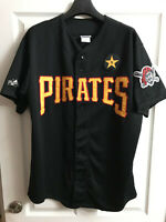 ✰SHIPS FREE/US✰ UNIQUE Pittsburgh PIRATES XL Button-down Jersey w/STARGELL STAR✰