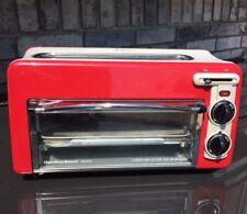 Hamilton Beach 22703H Toastation Oven Extra Wide 2 Slice Toaster Combination Red