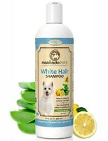 Whitening Shampoo for Dogs and Cats. Sulfate Free with Natural Components.