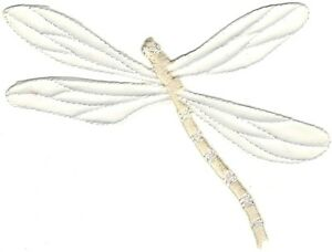 Ivory White Bridal Dragonfly Embroidery Patch