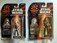 Star Wars Episode 1 Jar Jar Binks & Captain Tarpals Action Figures NEW & Sealed