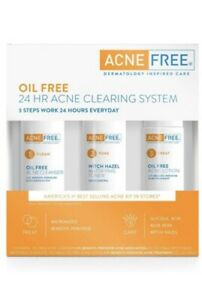 24HR ACNE CLEARING SYSTEM ACNE FREE DERMATOLOGY INSPIRED CARE, Exp 06-2022+