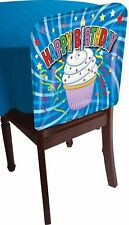 1 Happy Birthday Cupcake Dessert Chair Cover Party Decor Decoration