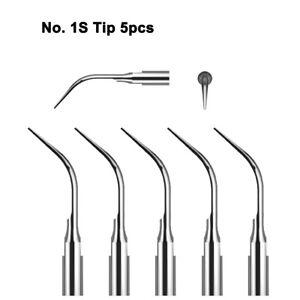 No. 1S Tip Dental Ultrasonic Scaler Tip Fit Satelec DTE NSK Handpieces, 5pcs
