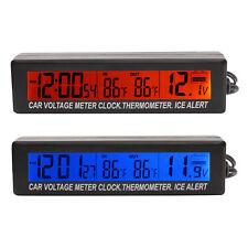 HOT Clock Digital Car Voltage Monitor 3 in 1 LCD digital Thermometer temperature