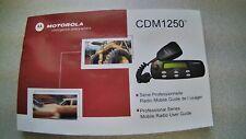 Motorola Cdm1250 Two-Way Radio Manual