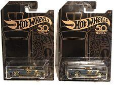Hot Wheels LOT 2 2018 HW '68 DODGE DART Black Gold Fifty 50 Anniversary 4/6