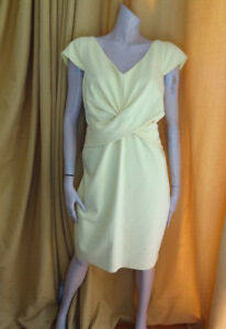(310OCT) BNWT Size 18 *COAST* Chic lemon shift cocktail dress