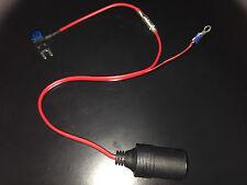 12v toma de encendedor de coche DVR teléfono Piggy Back miniblade fusible fusible cableado 30cm15a