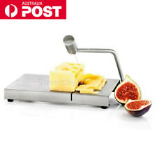 NEW Blade Cheese Cutter Board Cake Dofu Butter Slicer + Wire Stainless Steel AU