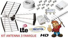 KIT ANTENNA DIGITALE TERRESTRE PER 3 FAMIGLIE LTE HD IMPIANTO ANTENNA COMPLETO