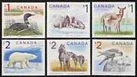 Lot LT357A CANADA #1687/1690 $1 Loon to $2 Horse High Value, 6 stamps Mint NH