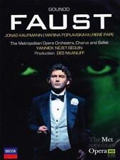 Gounod: Faust - Jonas Kaufmann Marina Poplavskaya René Pape Metropolit (NEW DVD)