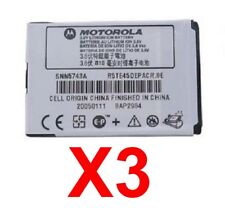 Lot Of 3 Oem Motorola Battery Snn5743A for M500 V975 V980 V1050 E770v C975