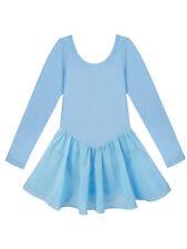 US Girls Gymnastics Ballet Dance Dress Toddler Kids Leotard Tutu Skirt Costume