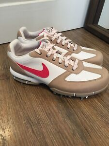 Nike Golf Shoes Size 6.5 M Sport Performance Pink Accent Women's Cleats