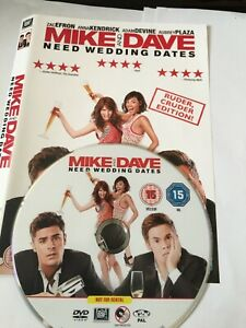 Mike and Dave Need Wedding Dates [DVD] No Case Disc & Cover only FREE POST