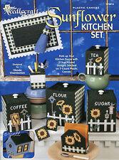 Sunflower Kitchen Set~ 11 Designs plastic canvas patterns