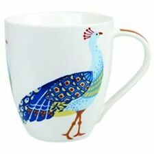 Queens PARADISE BIRDS Crush MUG Tropical PEACOCK Fine China Mug 500ml Churchill
