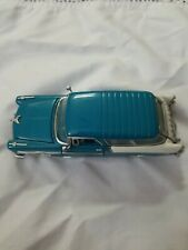 New ListingFranklin Mint Turquoise & White 1956 Chevy Nomad 1/43 Scale Die Cast Car