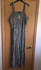 NWT Simply Be Women's Plus Size 26/28 Maxi Dress w/Convertible Straps