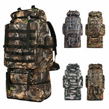 100L Large Military Camping Backpack Waterproof Camo Hiking Travel Tactical Bag