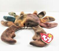 Collectible TY Beanie Baby Claude the Crab 1996 RetiredRare EUC Errors