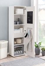 Hauswirtschaftsschrank Weiß Schublade Tafel Hakenleiste Vorratsschrank Stauraum