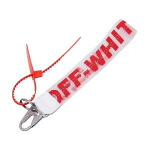 RED Off White Inspired Industrial Clear Keychain Lanyard - FREE SHIPPING!!!