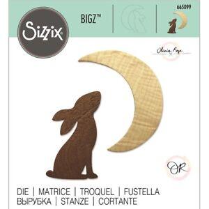 SIZZIX® BIGZ DIE - RABBIT & MOON - RRP £14.99 NOW £11.99 (665198) FREE P&P