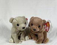 Ty Beanie Baby ALMOND & PECAN Bears